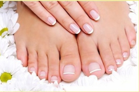 Gelish French Pedicure
